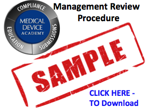 managment review sample SOP Gowning Procedures